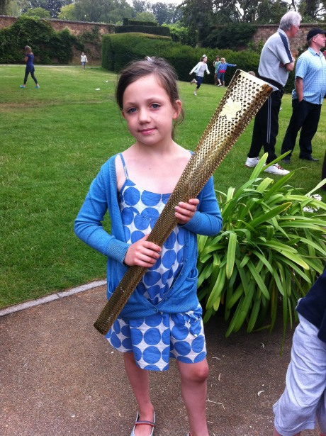 Still hot from the Olympic flame